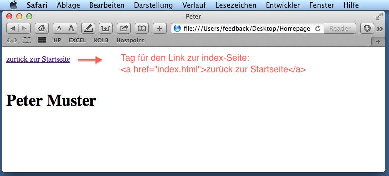 muster html seite
